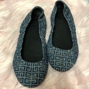Givenchy denim ballet flats sz 8 1/2
